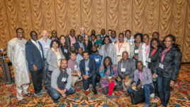 Developing Country Awardees gathered to celebrate their research accomplishments at the 2019 Diversity Reception.