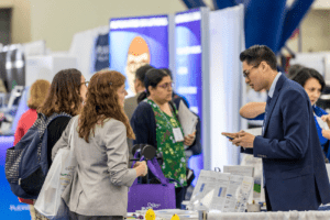Exhibitors and Attendees in the ASHG Exhibits Hall