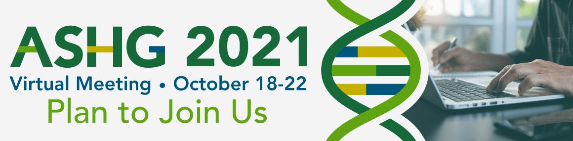 ASHG 2021 Annual Meeting Header